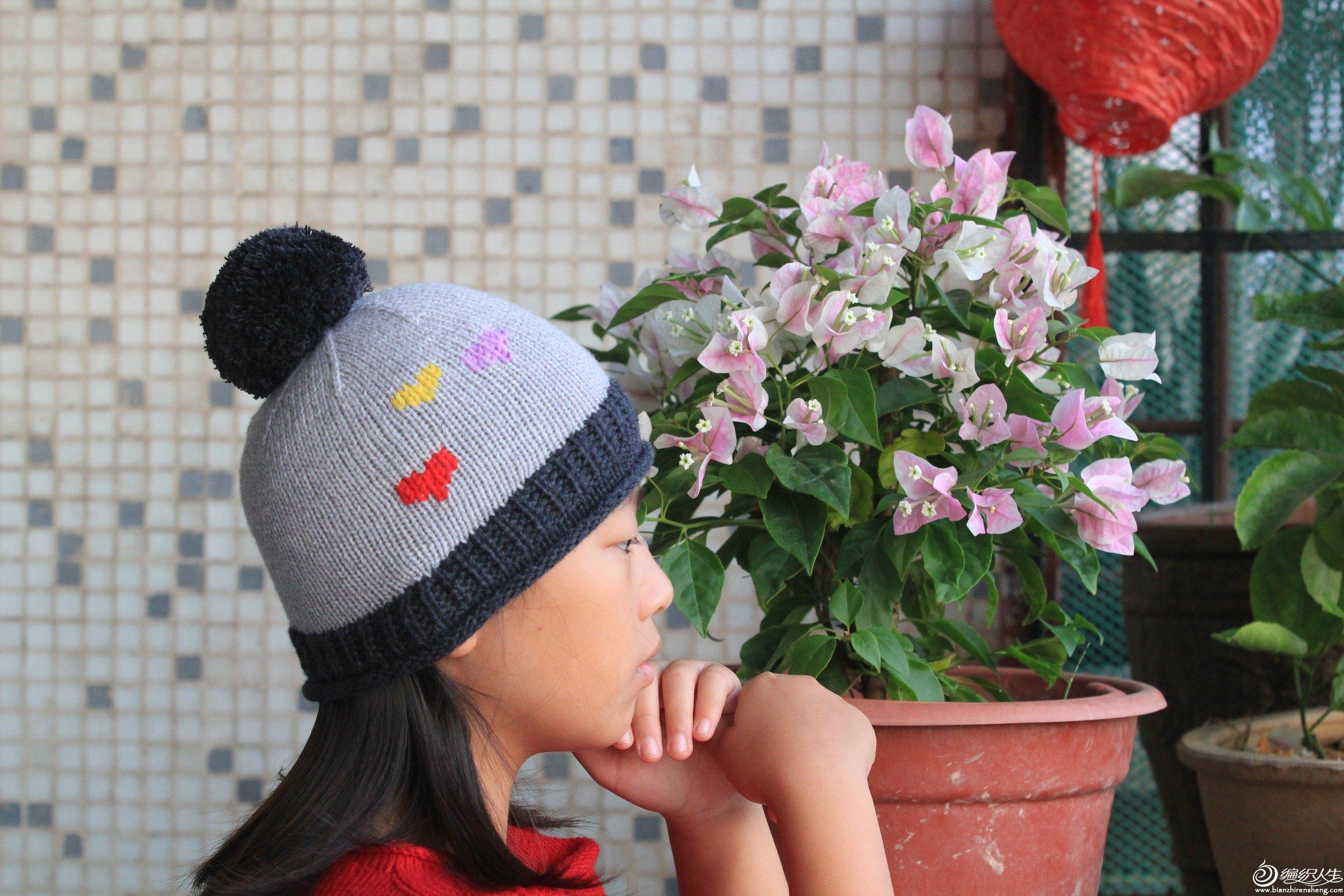 棒针儿童帽子