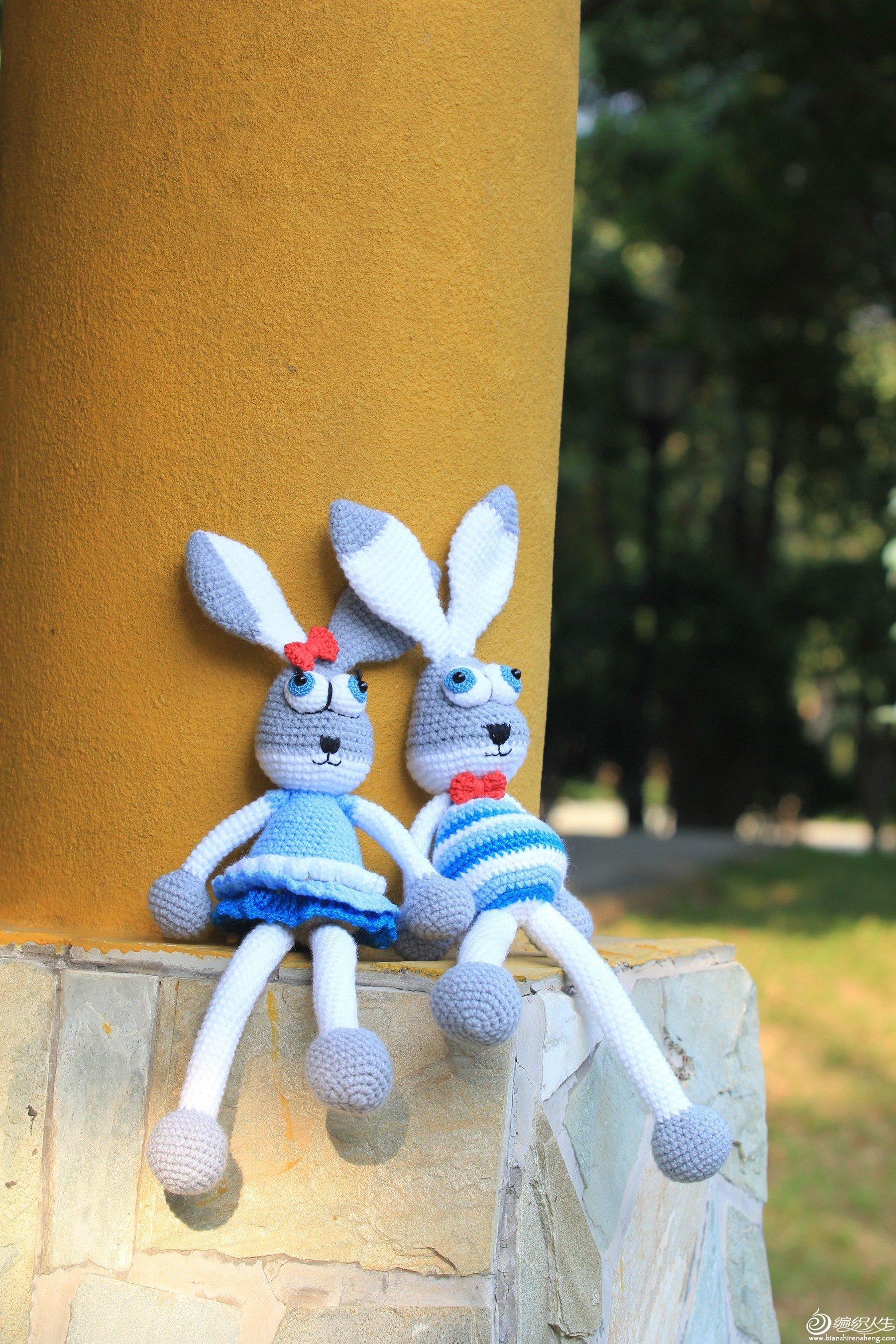 钩针玩偶兔子