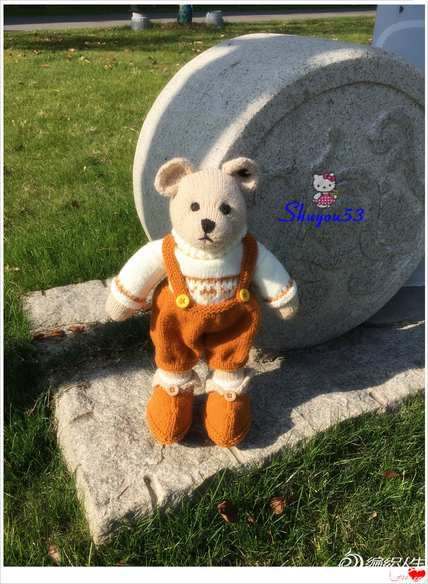 棒针小熊玩偶