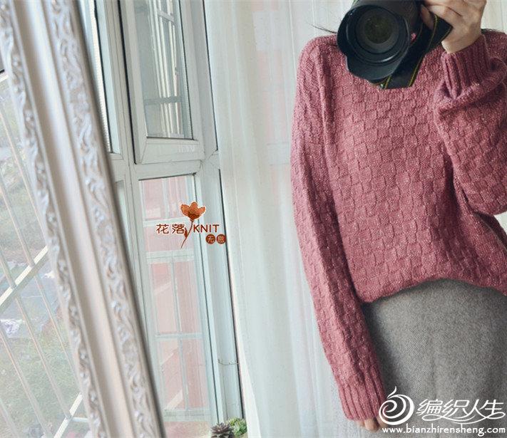 复古风粗针织羊毛套头毛衣