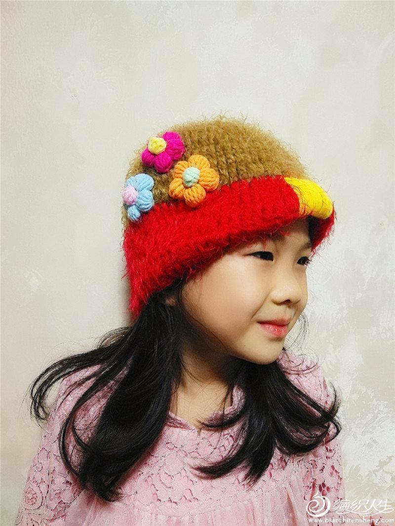 钩针儿童帽子