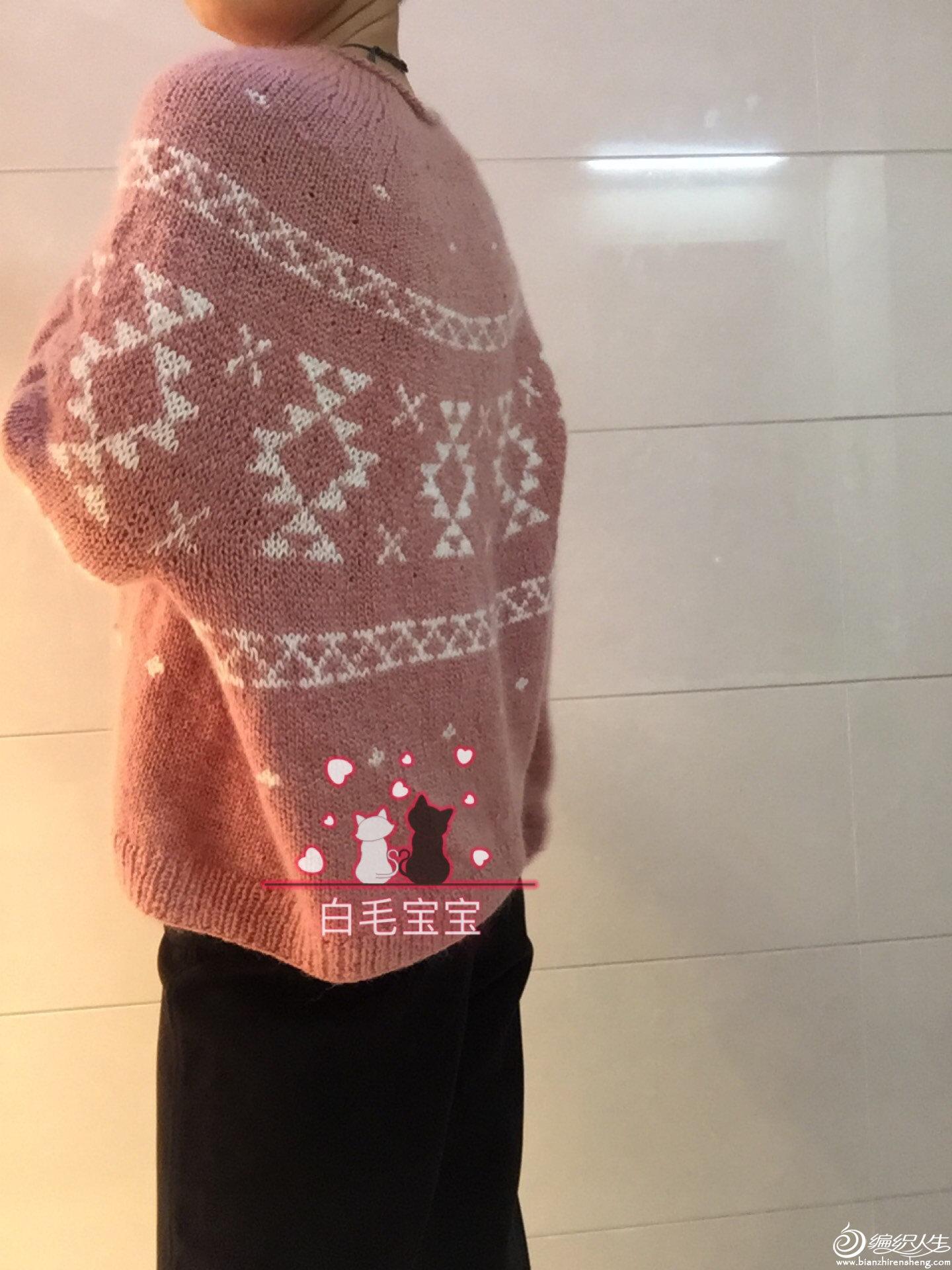 粗针织阔版套头毛衣
