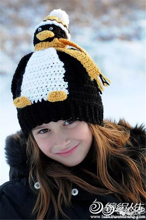 钩针企鹅帽