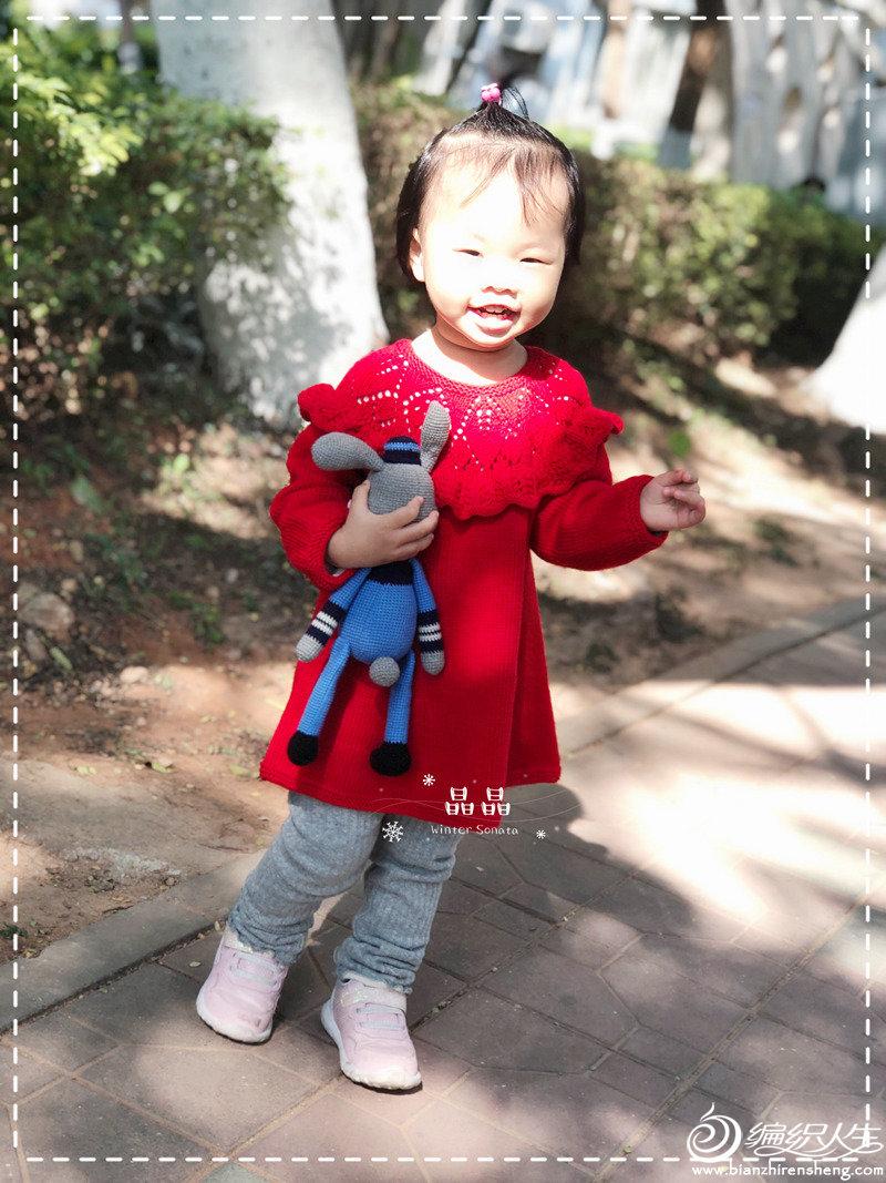 儿童棒针连衣裙