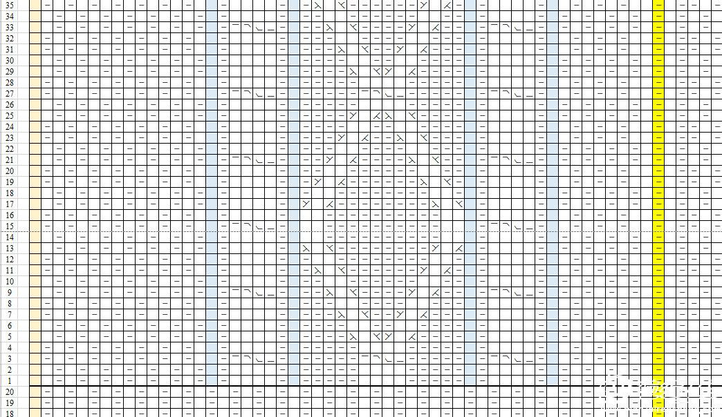 后片01(黄色列为中间对称位)