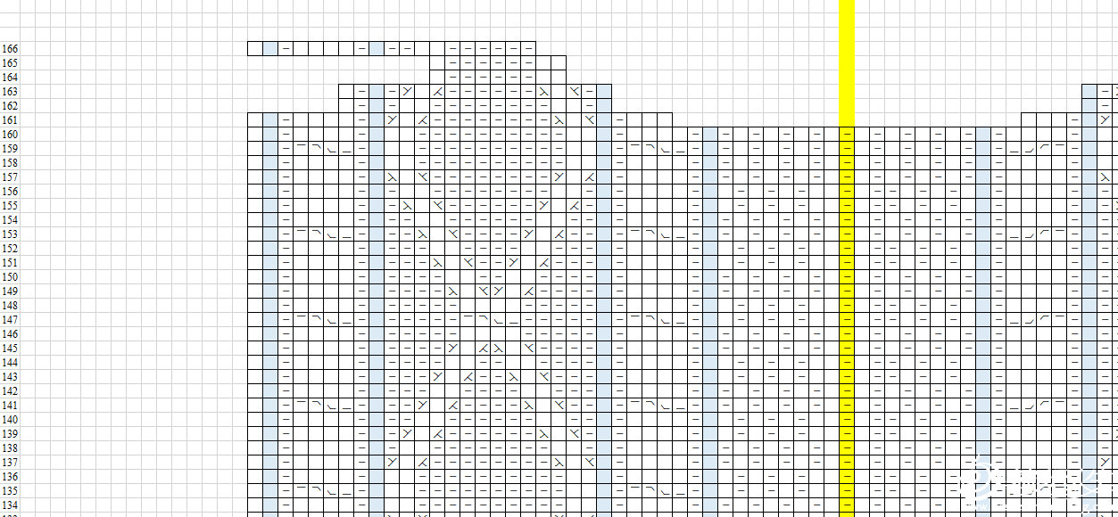 后片03(黄色列为中间对称位)
