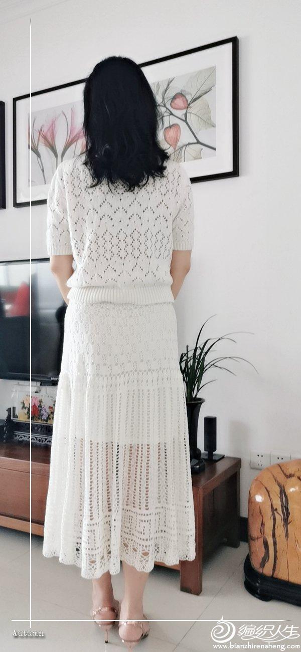 女士钩针蕾丝长裙