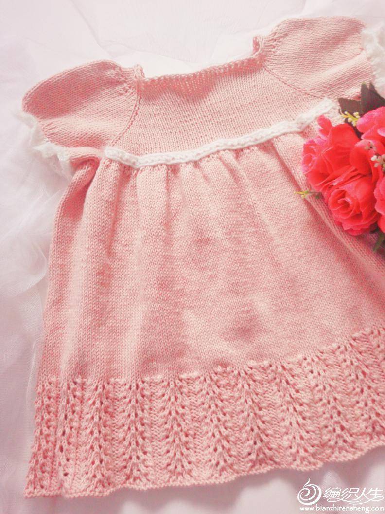宝宝棒针短袖公主裙