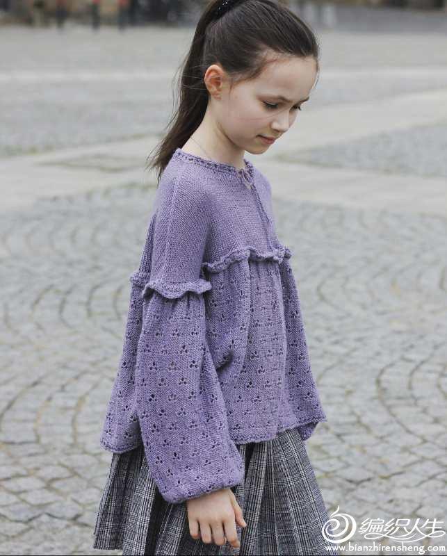棒针儿童毛衣裙