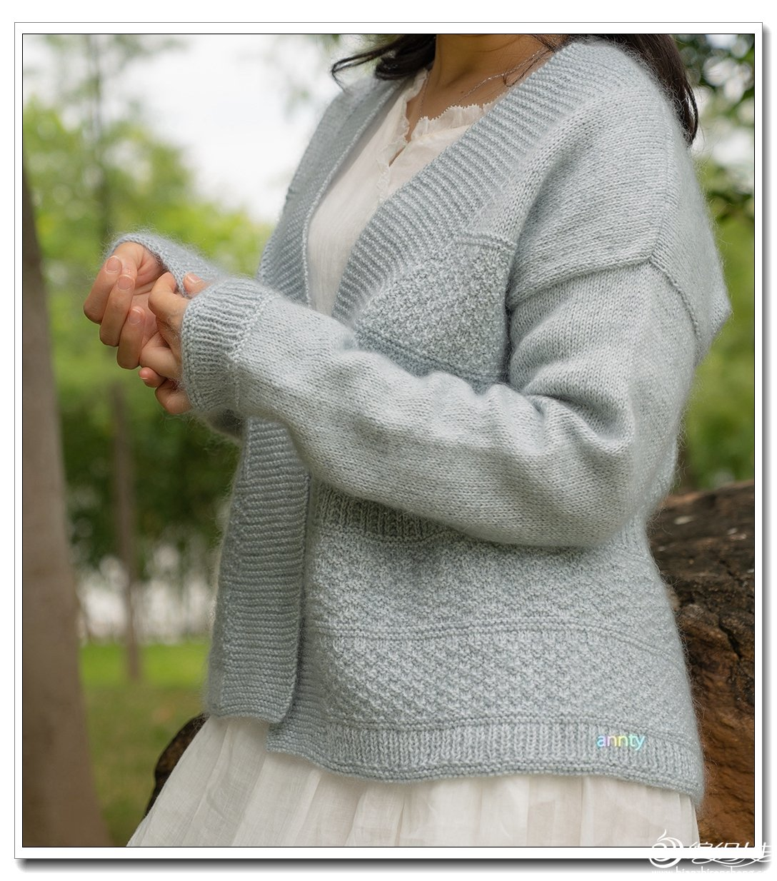 女士棒针开衫毛衣