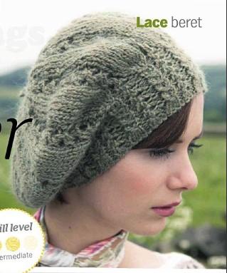 棒针蕾丝贝雷帽