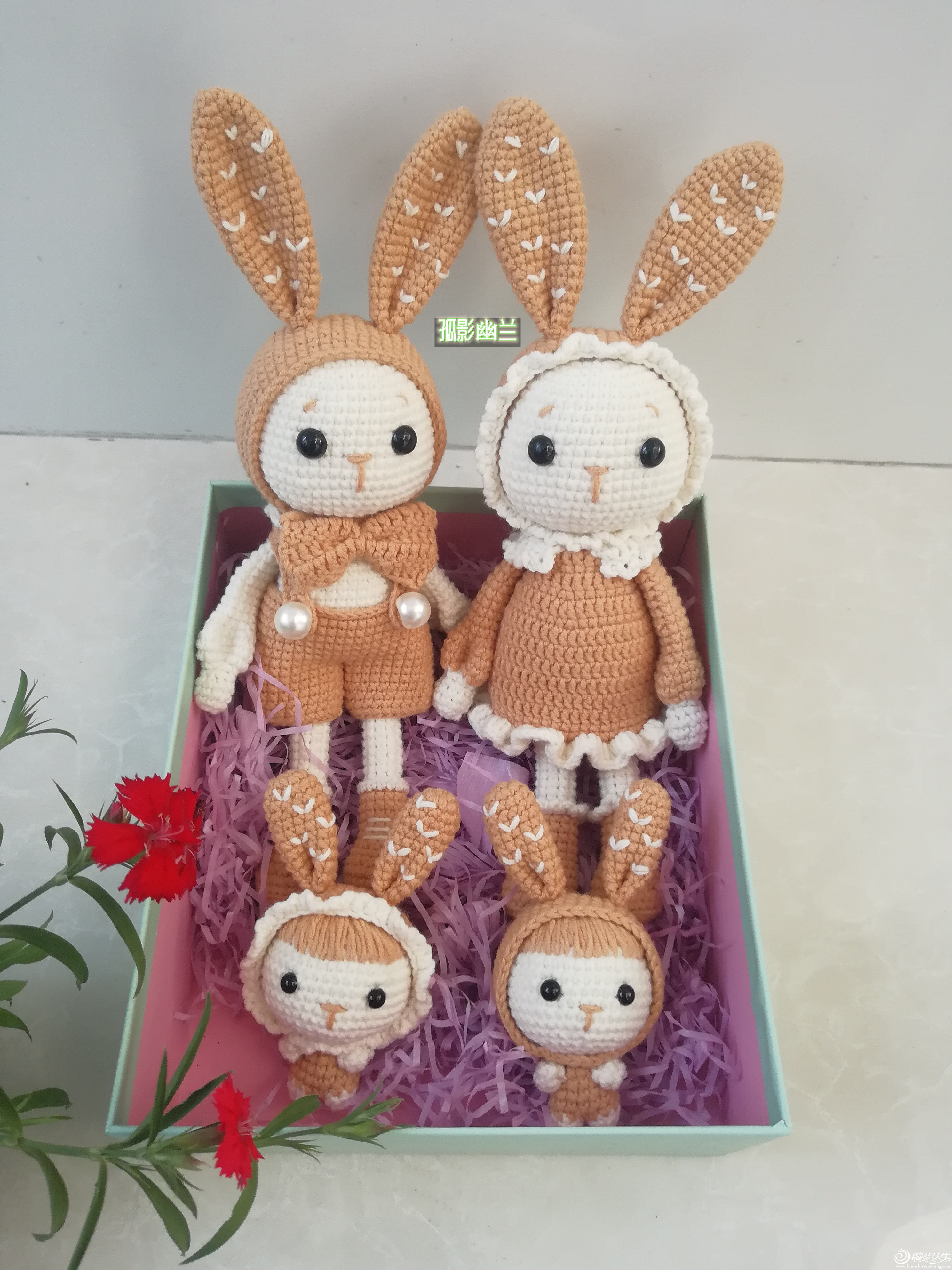 毛线玩偶兔宝宝