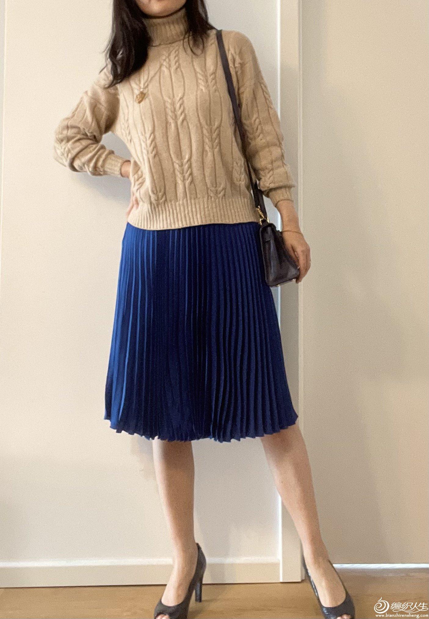 女士棒針麻花毛衣