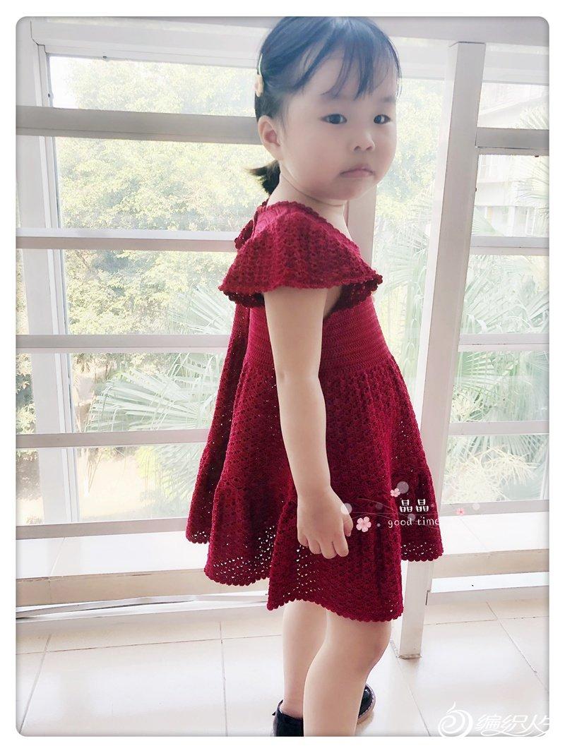 儿童钩针蕾丝连衣裙