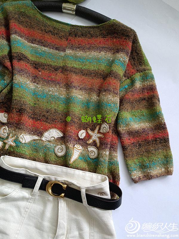段染线女士毛衣