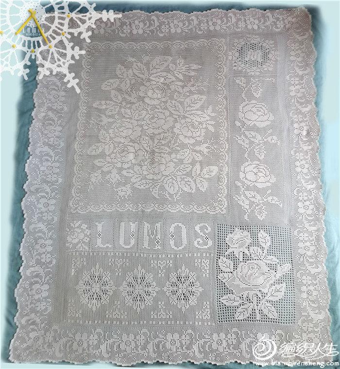 钩针蕾丝毯