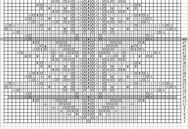 这张是我用棒针符号软件作的图