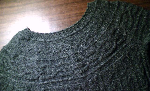 领子的特写,半圆的肩部