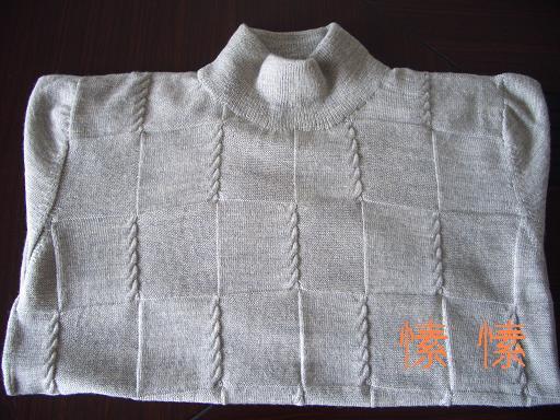 很简单的图案,用的是恒源祥的羔羊绒,2股,用量7两(32楼作了简单说明)
