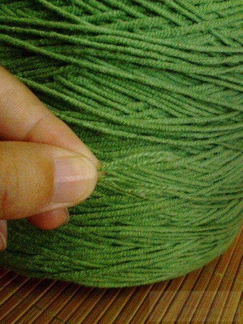 绿色圆棉线5股  2.5J